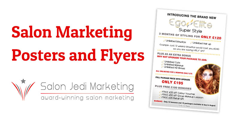 Salon Marketing Posters and Flyers